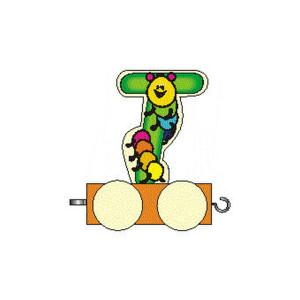 Holzdekoration Holzbuchstabe T auf Rädern BxLxH 50x30x70mm NEU