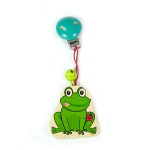 Babyspielzeug Wagenanhänger Frosch mit Käfer BxLxH 60x20x160mm NEU
