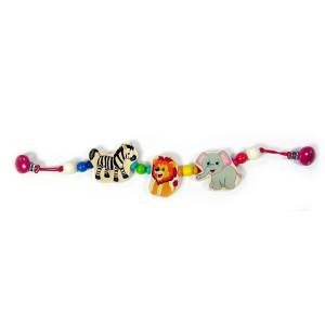 Babyspielzeug Kinderwagenkette Elefant Löwe Zebra BxLxH 520x25x80mm NEU