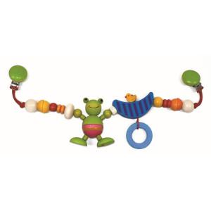 Babyspielzeug Kinderwagenkette Frosch mit Ente BxLxH 520x40x100mm NEU