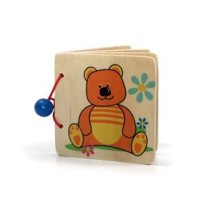 Holzspielzeug Bilderbuch Teddy BxLxH 110x15x90mm NEU