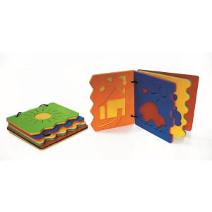Holzspielzeug Bilderbuch bunt BxLxH 110x20x90mm NEU