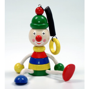 Holzspielzeug Schwingfigur Clown BxLxH 100x70x140mm NEU