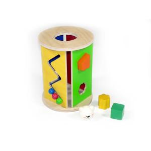 Holzspielzeug Steckbox rund BxLxH 170x170x220mm NEU