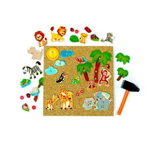 Holzspielzeug Hammerspiel Dschungel BxLxH 245x20x245mm NEU