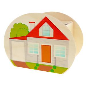Holzdekoration Spardose Haus BxLxH 65x115x85mm NEU