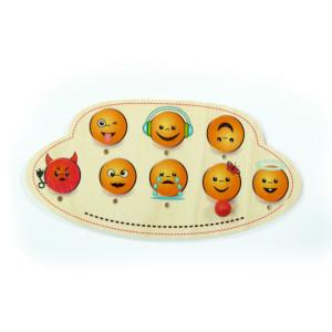 Holzdekoration Türschild Emojis BxLxH 200x20x100mm NEU