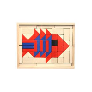 Holzspielzeug Baukasten Fisch BxHxT 28,5x22,5x4,5cm NEU