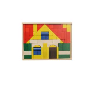 Holzspielzeug Baukasten Haus groß BxHxT 37,5x28,5x4,5cm NEU