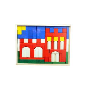 Holzspielzeug Baukasten Burg rot BxHxT 37,5x28,5x4,5cm NEU