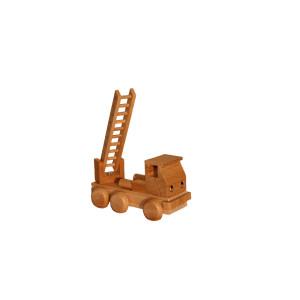 Holzspielzeug Feuerwehr mit Leiter natur Länge ca. 10 cm NEU