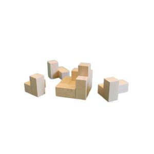 Holzspielzeug Holzpuzzle cube natur BxHxT 5x5x5cm NEU