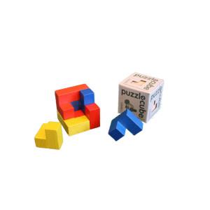 Holzspielzeug Holzpuzzle cube bunt BxHxT 5x5x5cm NEU