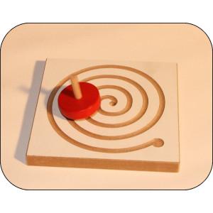 Holzspielzeug Kreiselbrett Spirale BxH 12x12cm NEU