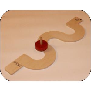 Holzspielzeug Kreiselbahn Serpentine ca.30 cm lang NEU
