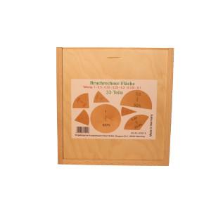 Lernspielzeug Bruch -und Prozentrechner aus Holz BxHxT 20,5x19,5x4,5cm NEU