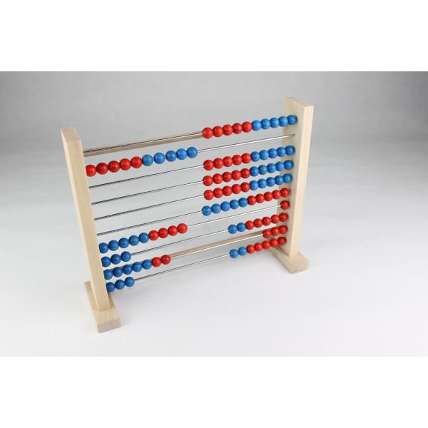 Lernspielzeug Zählrahmen 100 mit abnehmbaren Füßen BxH 29x23,5cm NEU