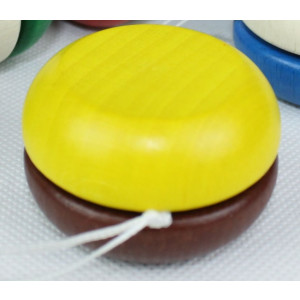 Holzspielzeug Yo-Yo Gelb-Dunkelrot BxT 5x3cm NEU