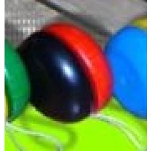 Holzspielzeug Yo-Yo Rot-Schwarz BxT 5x3cm NEU