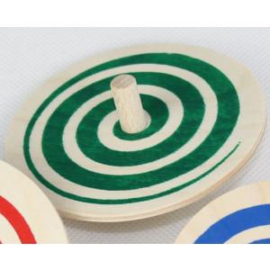 Holzspielzeug Spiralkreisel Grün Ø 8cm H 3,4cm NEU