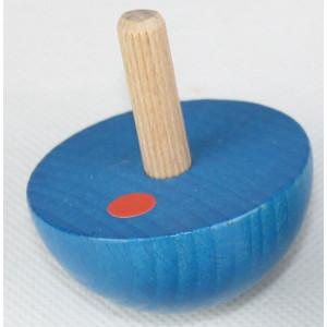 Holzspielzeug Halbkuglekreisel Blau Ø 4,9cm NEU