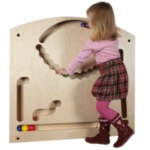 Holzspielzeug Wand-Kugelbahn groß LxBxH 970 x 920 x 75 mm NEU