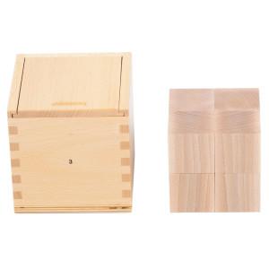 Holzspielzeug Fröbelgaben 3 für Kinderkrippe LxBxH 128x128x131mm NEU