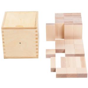 Holzspielzeug Fröbelgaben 6 für Kinderkrippe LxBxH 180x180x183mm NEU