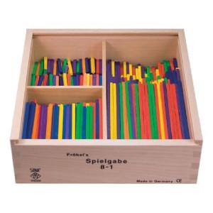 Holzspielzeug Fröbel Gabe 8-1 Stäbchen 125mm LxBxH 220x220x75mm NEU