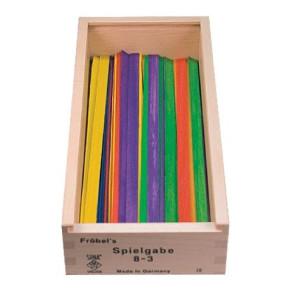 Holzspielzeug Fröbel Gabe 8-2 Stäbchen 250mm LxBxH 280x130x65mm NEU