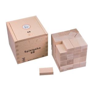 Holzspielzeug Fröbel Gabe 6B Quader & Würfel 50mm LxBxH 127x127x122mm NEU