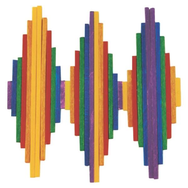 Holzspielzeug Legespiel Stäbchen LxBxH 170x110x30mm NEU