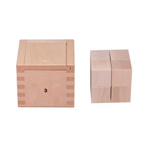 Holzspielzeug Gabe 3 Fröbelspiel 8 Würfel (25 x 25 x 25 mm) LxBxH 72x72x66mm NEU