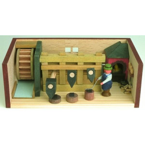 Miniaturstube Hammerwerk BxHxT 11x4x6 cm NEU