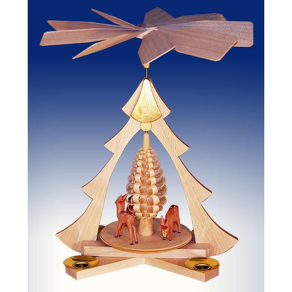 Tischpyramide Rehe natur BxHxt 21x26x22,5cm NEU