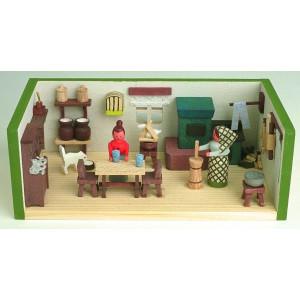 Miniaturstube Bauernstube BxHxT 11x4x6 cm NEU