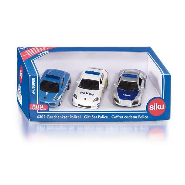 6302 Siku Super Polizei Geschenkset Polizeiautos Polizeiwagen NEU TOP