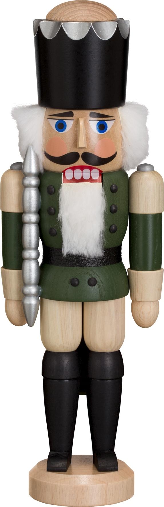 Weihnachtsdekoration Nußknacker König grün HxBxT = 29x10x8cm NEU