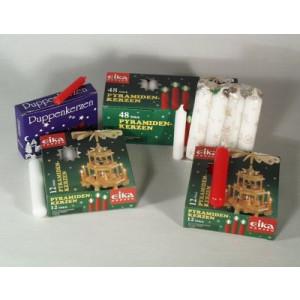 Kerzen Rot D 10 mm 20 Stück Pyramidenkerzen Kerzenhalter Puppenkerzen NEU 29319