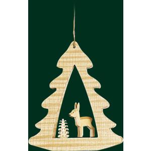 Christbaumschmuck Bäume mit Reh Baumbehang Weihnachtsbaum Seiffen NEU 13441