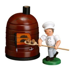 Bäckerkind Bäckerjunge + Brotschippe ohne Ofen ESCO Volkskunst Oster Deko Seiffen NEU 9350