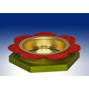 Ganzjahresdekoration Kerzenhalter Teelicht BxHxT 7x1,5x7cm NEU