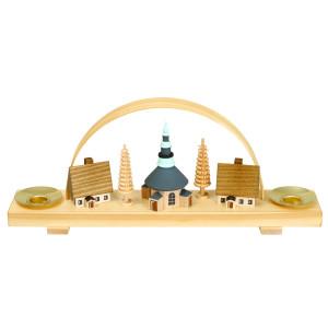 Weihnachtsdekoration Schwibbogen mit Seiffener Dorf BxHxT 24,5x10x4,5cm NEU