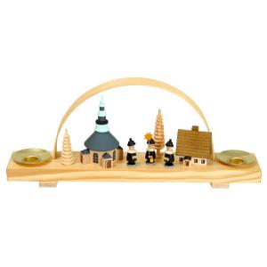 Weihnachtsdekoration Schwibbogen mit Seiffener Dorf und Kurrende BxHxT 24,5x10x4,5cm NEU