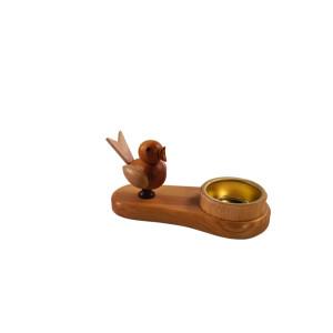 Kerzenhalter Vogel 8 cm Kerzenständer Leuchter Erzgebirge NEU