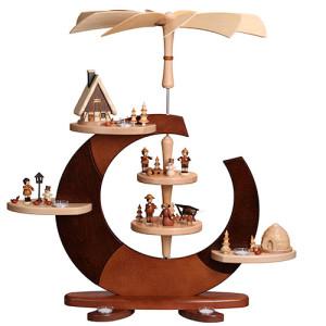 Designpyramide ohne Bestückung mit Teelichter HxLxB 74x80x54cm NEU