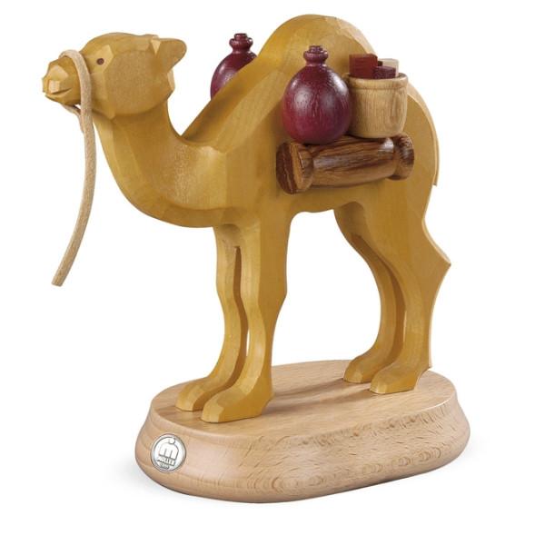 Dekofigur Kamel für Räuchermann 16450 handgeschnitzt natur (LxBxH):15x8x14cm NEU