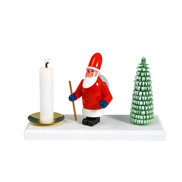 Kerzenhalter Weihnachtsmann mit Baum Höhe ca. 8cm NEU