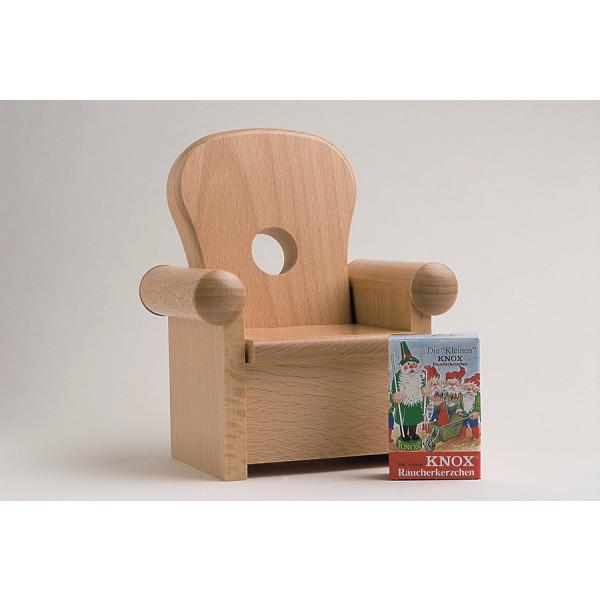 Räucherfigur Sessel, natur 16 cm NEU