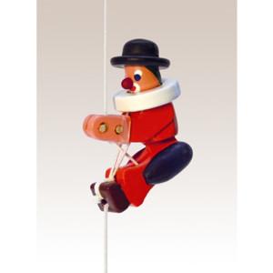 Kletterfigur Clown Weißes Kletterseil , Länge ca. 45 cmHöhe der Figur ca. 6,5 cm NEU